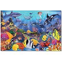 Melissa & Doug Underwater Ocean Floor Puzzle (48 pcs, 2 x...