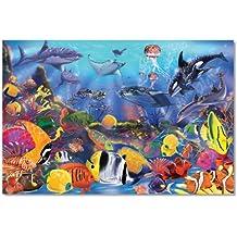 Melissa & Doug Underwater Ocean Floor Puzzle (48 Pieces), 2 x 3 feet