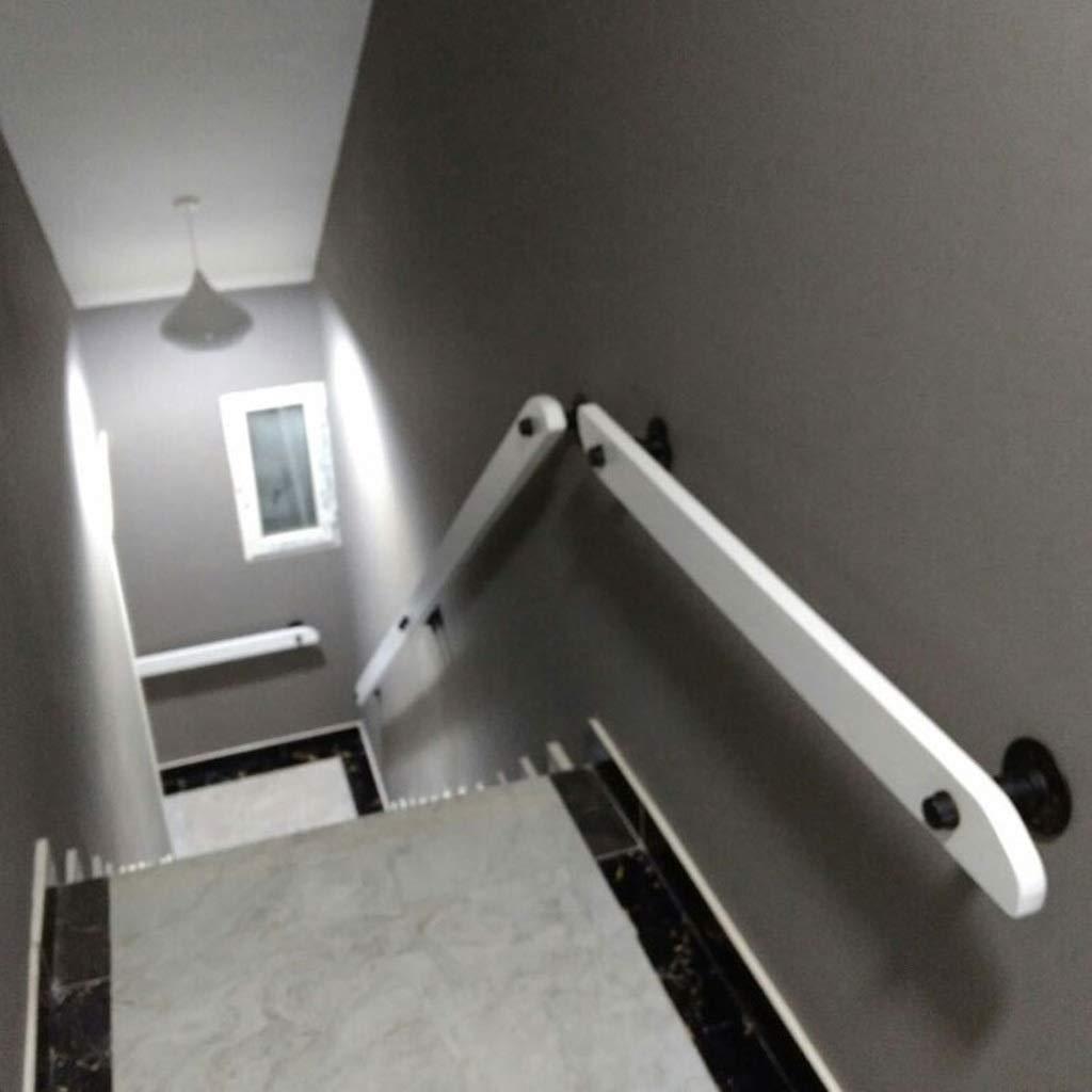 Couleur : Blanc, taille : 30cm//11.8inch Balustrade descalier de mur en bois plein balustrade antid/érapante poign/ée dacc/ès dh/ôpital de balustrade de grenier de couloir