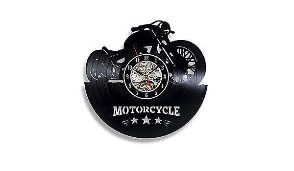 Arte Disco de Vinilo Relojes de Pared Regalo para Motociclistas ...