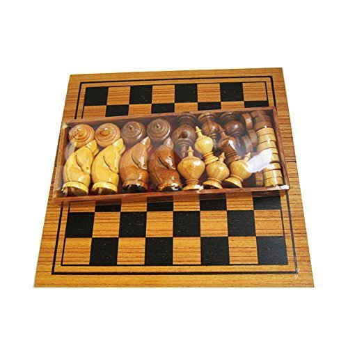 (Makruk Thai Chess Set Vintage Board and Pieces Wood Box Wooden Carved Hand Travel Chess Decoration Piece Decor 32 Pieces and Wooden)