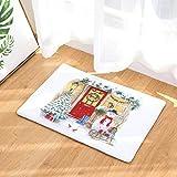Startview Christmas Floor Mats, Non Slip Door Floor Mats Hall Rugs Kitchen Bathroom Carpet Decor (B)