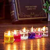 PeepalComm 18pcs/pack Gel Candles for Home Decoration Party Birthday Wedding Diwali Christmas (2.3 x 2.3 x 2.6cm)