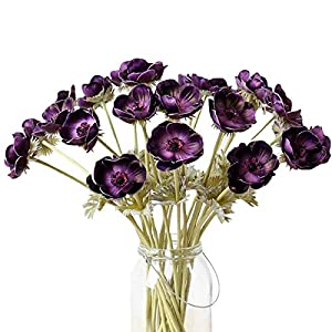 5Pcs Artifical Real Touch PU Anemone Flower Bouquet Room Home Decor 1