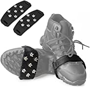 FANBX F Crampon Traction Cleats Anti-Skid Traction Grips Crampons Spikes 7 Point Cleats for Footwear for Walking, Jogging, H