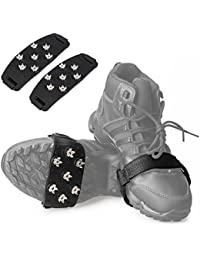 Crampon Traction Cleats Anti-Skid Traction Grips Crampons Spikes 7 Point Cleats for Footwear for Walking, Jogging, Hiking Ice Snow Grips