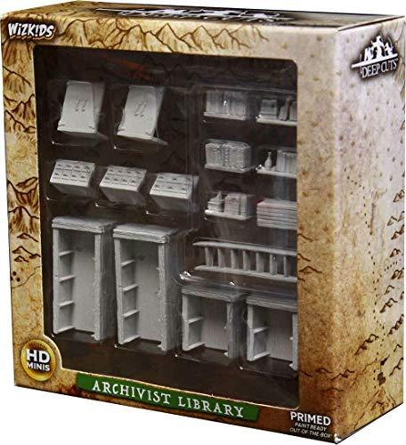 WizKids Deep Cuts Miniaturas sin pintar Terreno: Wave 5: Archivist Library