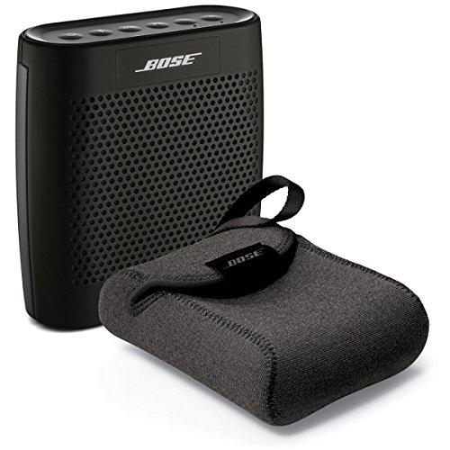 Bose SoundLink Color Bluetooth Speaker - Black - Bundle With SoundLink Color Carry Case