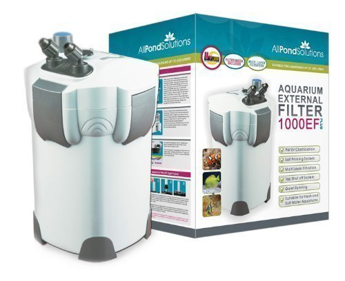 Acuario Externos Filtro Pecera Acuario 1000L/H + 9W UV Luz Sin Filter Media Todas Las Soluciones De Estanques 1000EF All Pond Solutions 1000EF+