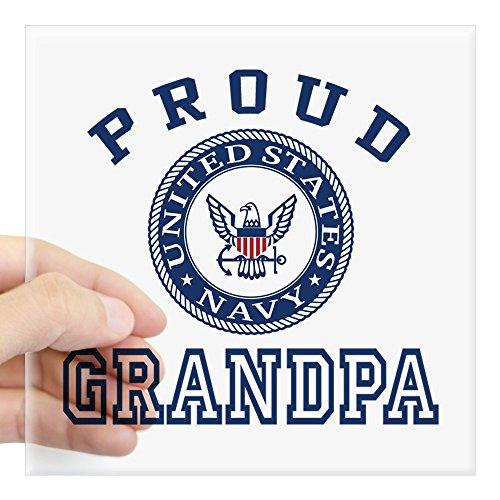 CafePress Proud US Navy Grandpa Square Sticker 3