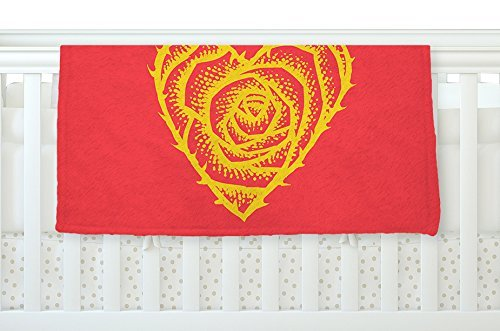 KESS InHouse BarmalisiRTB I Love Roses Heart Thorns Fleece Baby Blanket 40 x 30 [並行輸入品]   B077Z2JHT8