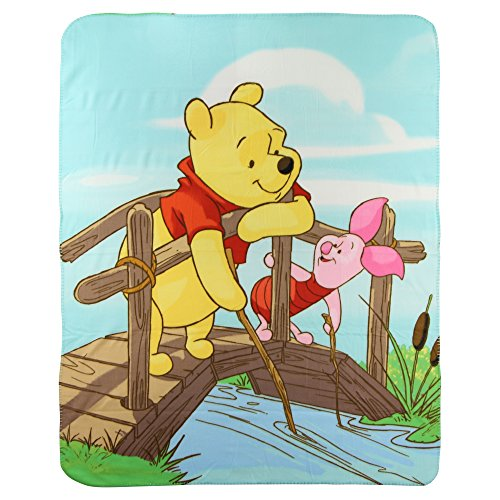 Winnie The Pooh and Piglet Fleece Throw Blanket