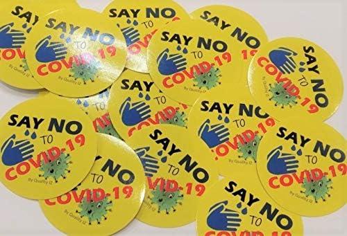 Amazon.com: Di no to COVID 19, Coronavirus, pegatinas redondas de
