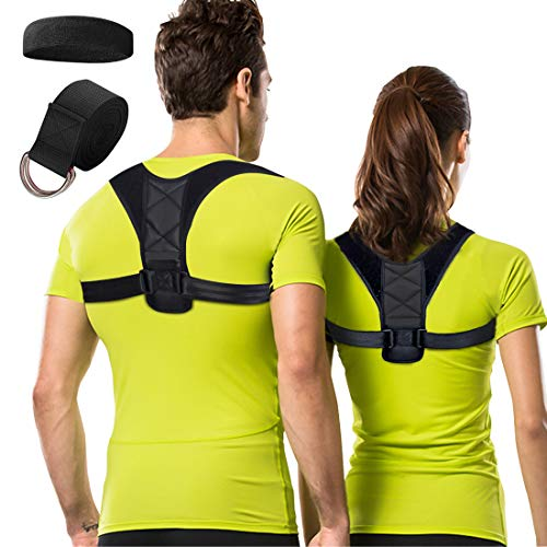 Posture Corrector for Women Men, Adjustable Back Brace for Upper Back and Shoulder Pain Relief, Improve Bad Posture Support, Clavicle Support for Slouching and Hunching
