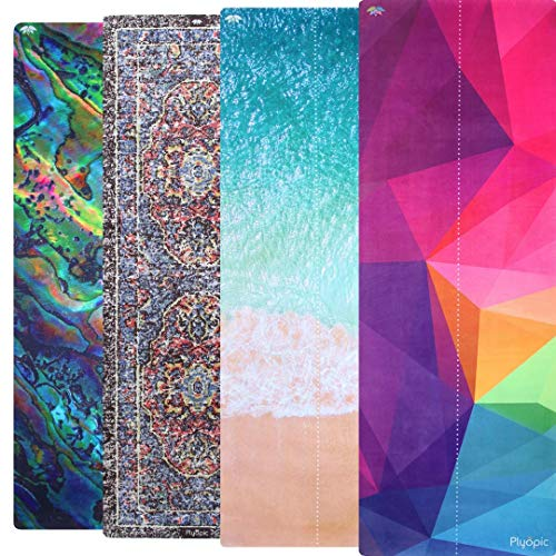 Plyopic All-in-One Yoga Mat | Luxury Sweat-Grip Mat/Towel Combo | Eco-Friendly Natural Rubber | Best...