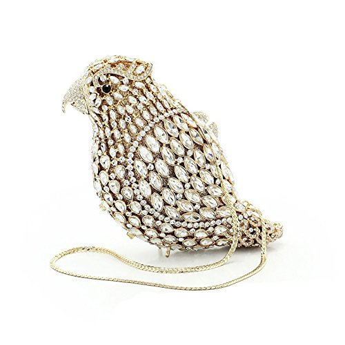 With Removale Chain For Evening Animals Purses Women Wedding Red Sharpbird Evening Clutch Bag Crystals Rinestones With Party fcwTPFAqw
