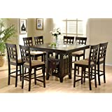 Etonnant Coaster Home Furnishings 9 Piece Counter Height Storage Dining Table W/Lazy  Susan U0026 Chair
