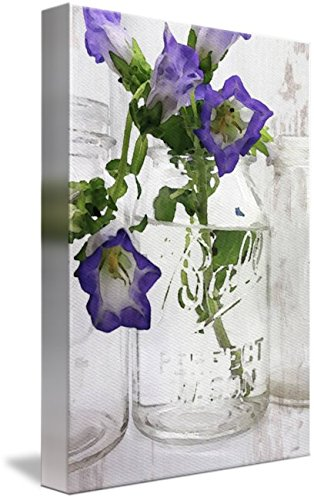 Wall Art Purple Flower In Mason Jar by Irena Orlov