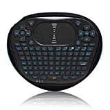 ANEWKODI T8 2.4GHz Handheld Mini Wireless Keyboard with Touchpad Mouse Combo for PC, Google Android TV Box, Smart TV etc. (LED Backlit, Rechargeable Li-ion Battery)