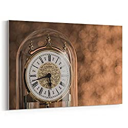 Westlake Art - Clock Home - 16x24 Canvas Print Wall Art - Canvas Stretched Gallery Wrap Modern Picture Photography Artwork - Ready to Hang 16x24 Inch