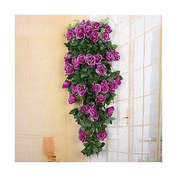 Haotfire-Artificial-Rose-Garland-Wall-Hanging-Silk-Flowers-Rattan-Ivy-Vine-for-Wedding-Party-Garden-Decoration