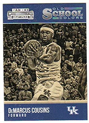2015-16 Contenders Draft Picks Old School Colors Basketball #8 DeMarcus Cousins Kentucky Wildcats Official NCAA Trading Card made by Panini