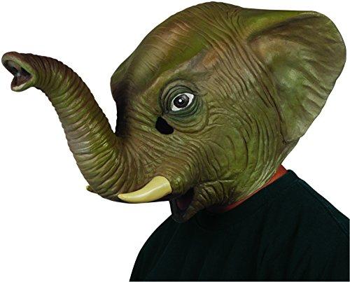 Loftus International Star Power Realistic Elephant Animal Head Mask, Grey, One Size Novelty Item