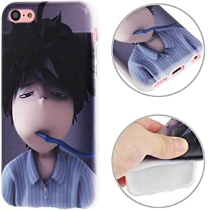 JUJEO Cartoon Boy Pattern TPU Protective Case for iPhone 5C - Non-Retail Packaging - Multi Color