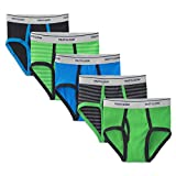 Fruit of the Loom Big Boy's 5-Pack Fashion Briefs Stirpeds/Solids