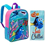 Disney's Finding Dory 2 Piece Kids Backpack Set - Large Backpack and Beach Towel