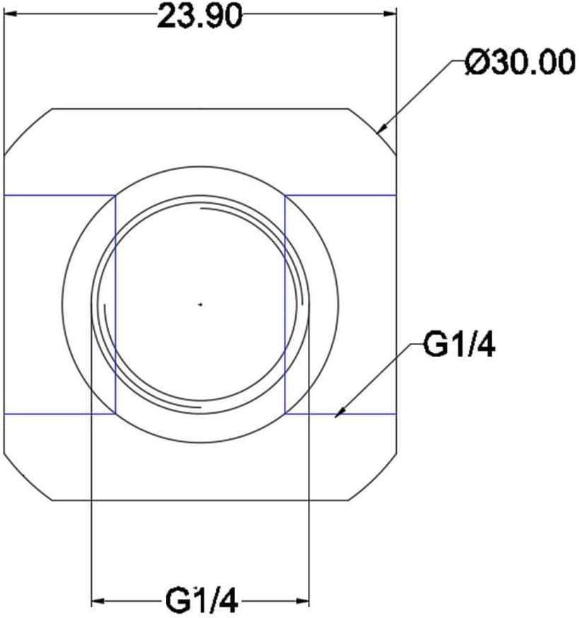 Bykski G1//4 4-Way Quad Adapter Block B-TE4-X White