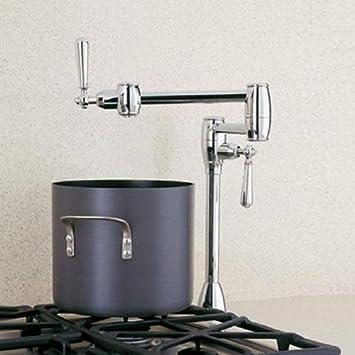 Blanco Bl440670 Universal Deck Mounted Pot Filler Kitchen Faucet With Lever Handles Chrome Pot Filler Kitchen Sink Faucets Amazon Com