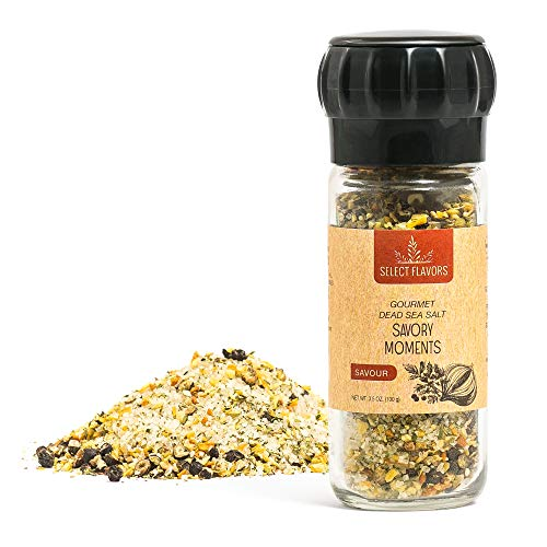 Select Flavors Gourmet Herbs and Spices Savory Seasoning 3.5 oz Grinder Top ()