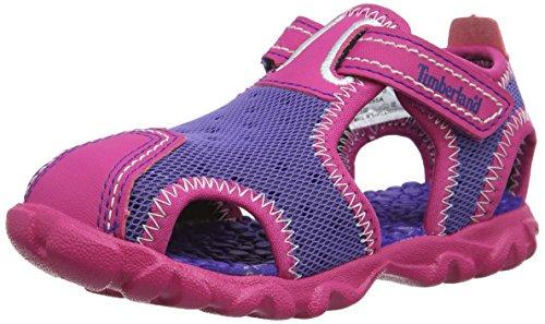 Timberland Big Girls' Synthetic Splashtown Sandals 6 UK Child Purple by Timberland