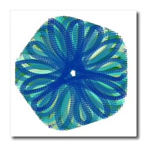 ht_172161_2 Cassie Peters Abstract - Blue Floral Digital Abstract by Angelandspot - Iron on Heat Transfers - 6x6 Iron on Heat Transfer for White Material