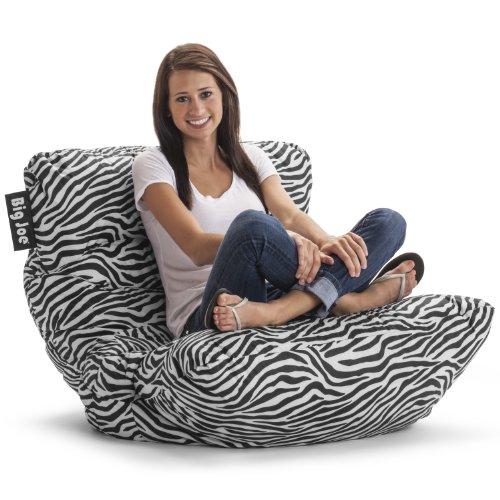 home, kitchen, furniture, game, recreation room furniture,  bean bags 12 on sale Big Joe Roma Chair, Zebra deals