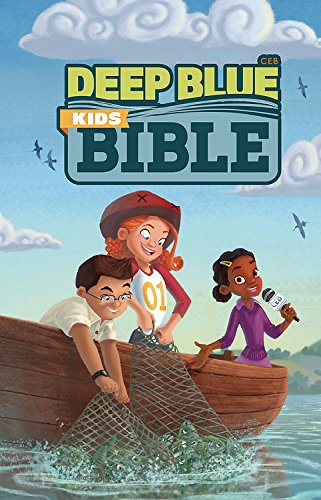 CEB Deep Blue Kids Bible Bright Sky - Map Outlets Lee