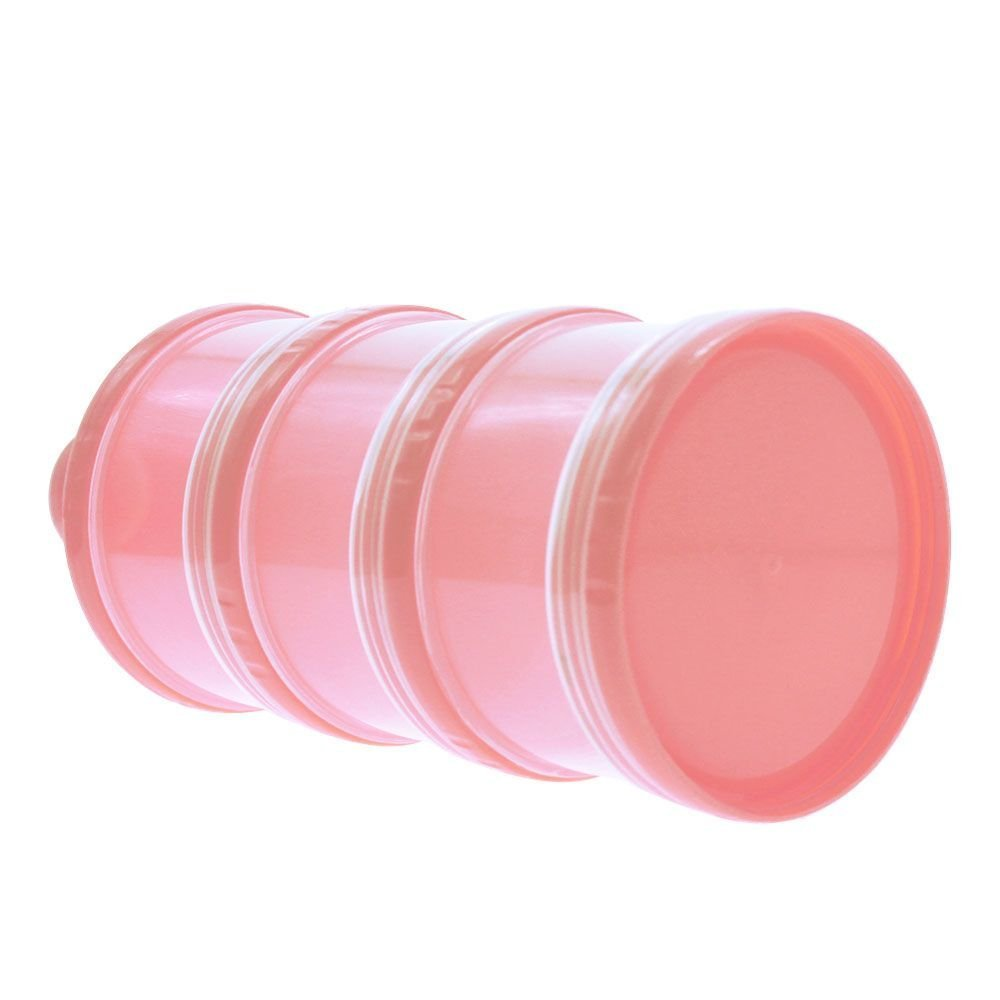 HuaYang New Portable 3 Layer Baby Infant Food Milk Powder Bottle Box Dispenser Container Pink HuaYangca