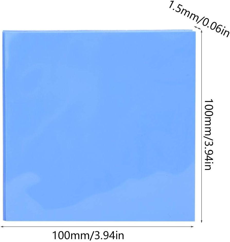 Electrodom/ésticos para tarjeta gr/áfica Puente Norte-Sur 5 piezas Hoja de conductividad t/érmica de silicona CPU GPU Almohadilla de conducci/ón de calor 100x100x1.5 mm