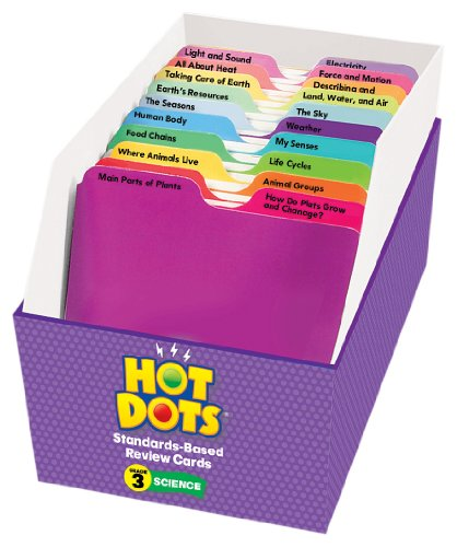 Educational Insights Hot Dots Science Standards-Based Review Cards - Grade 3 Photo #7
