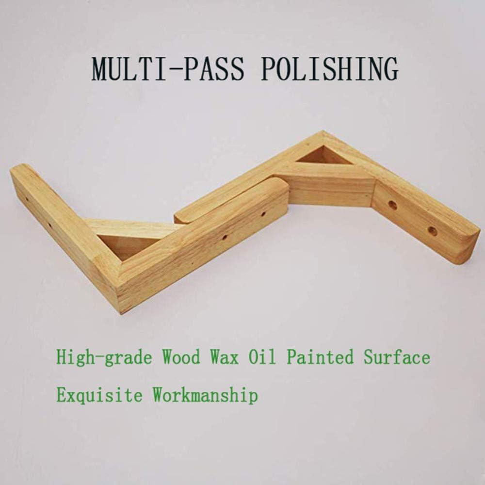 2 paquetes de soportes de estante de madera maciza Soporte de estante de tri/ángulo multifunci/ón Estante de pared de bricolaje Estantes flotantes Marco de soporte con tornillos