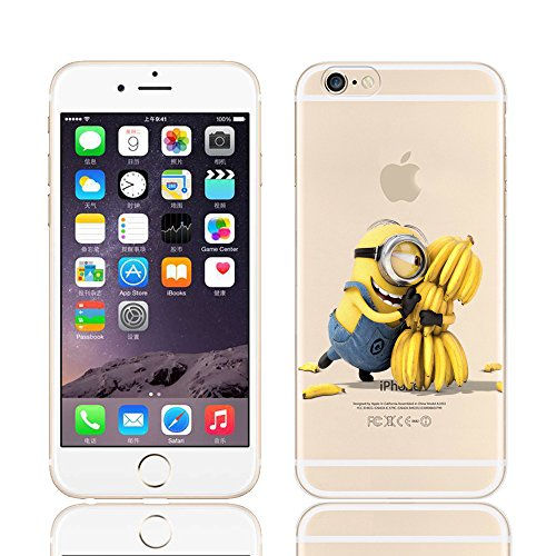 MINIONS TRANSPARENT CLEAR TPU SOFT CASE FOR APPLE IPHONE 7 PLUS 1 MINION