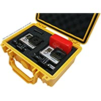 IBEX Cases - Yellow Watertight GoPro Hero and Accessories Hard Rugged Case with Customizable Foam (IC-1100YL)