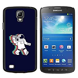 Qstar Arte & diseño plástico duro Fundas Cover Cubre Hard Case Cover para Samsung Galaxy S4 Active i9295 (Psychedelic Astronauta Radio Música)