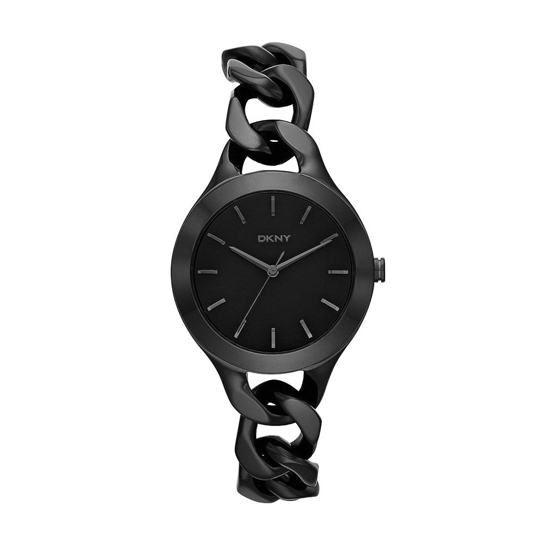 DKNY Damen-Armbanduhr Analog Quarz Edelstahl beschichtet NY2219