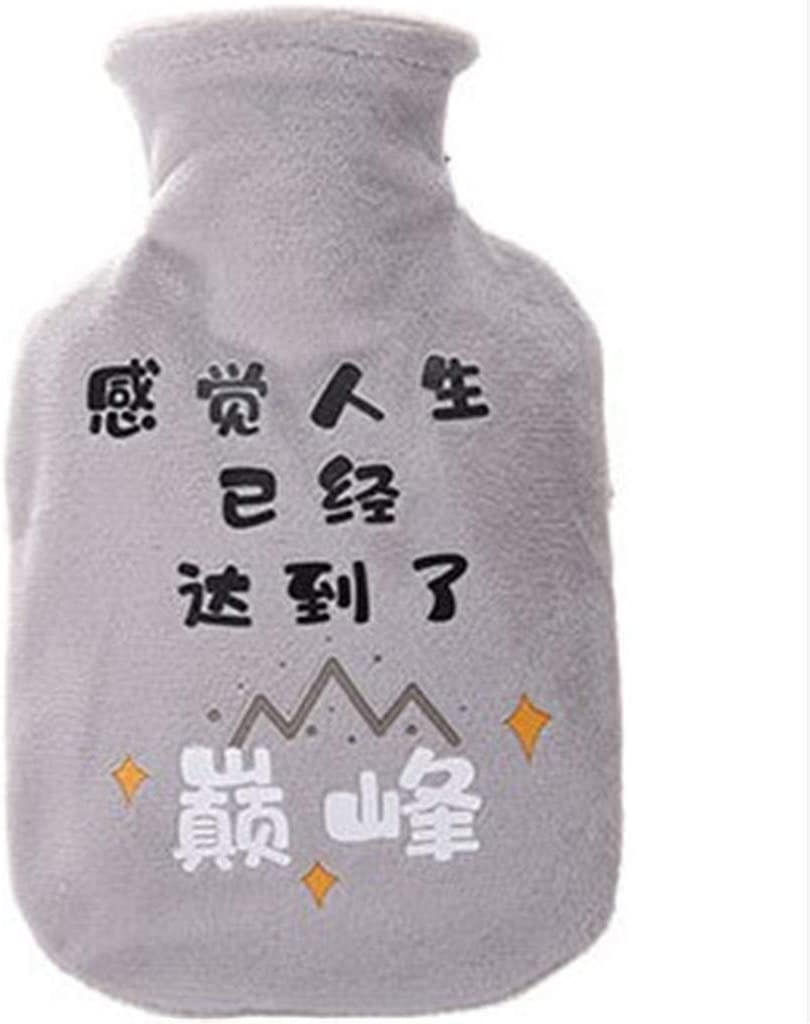 Warm Hot Water Bottle,Portable Hot Water Bag,Hot & Cold Therapy,Great for Menstrual Pain Relief for Women,Arthritis, Headaches,Kids and Gifts,Popular Chinese Characters Print