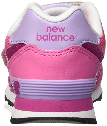 New Balance Nbkv574flp, Sandalias con Plataforma Unisex Niños Rosa (Pink Purple)