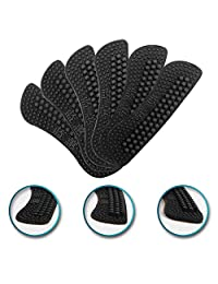 3 Pairs Heel Liner Cushions Insoles,2-6mm 4D Heel Grip Pads Heeled Silicone Self-Adhesive Inserts Stickers for Loose Shoes,Improved Fit and Comfort for both Women