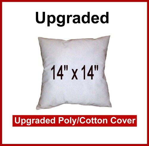 Pillow Inserts 14 x 14 Square -Poly/Cotton Shell (Polyfill) Hometex