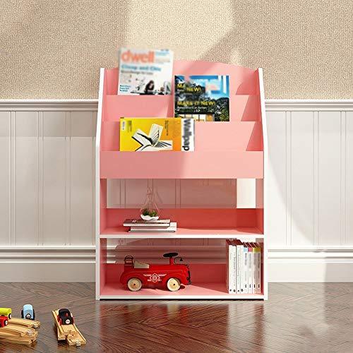 FCSFSF Estanteria y Bookrcase Unify Display Case Density Board Commodity Shelf Unit Room Divider Shelf, 62.4 x 24 x 91cm, 3 Colores Opcionales (Color: WOODCOLOR, Tamano: WOODCOLOR)